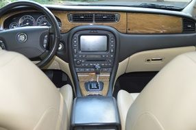 interior of a luxury auto jaguar