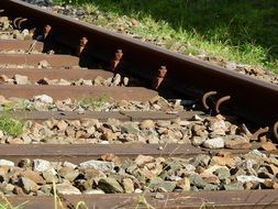 railroad with pebbles
