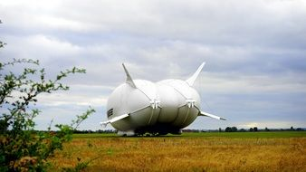 airship on the field like a vehicle