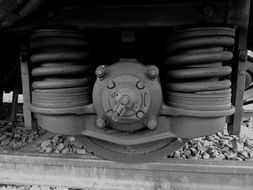 railway wheels with shock absorber