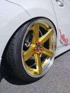 gold Toyota wheel