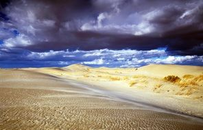 sand hills near the sea