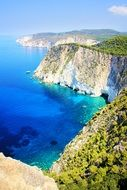 panorama of the Greek island of Zakynthos