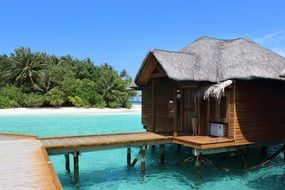 exotic hut in the maldives