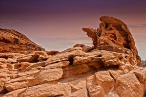 cliffs in a canyon in the valley of fire in nevada