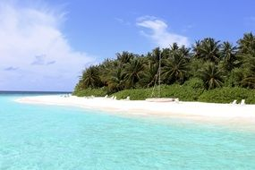 Ocean beach on a Maldives