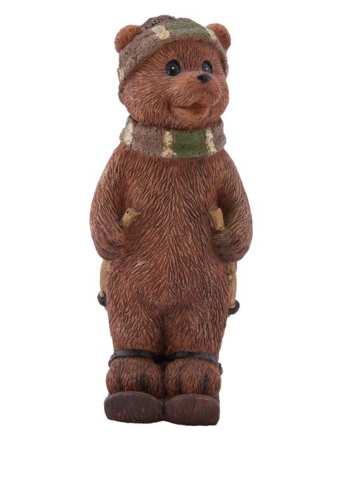 clay figure of a brown bear