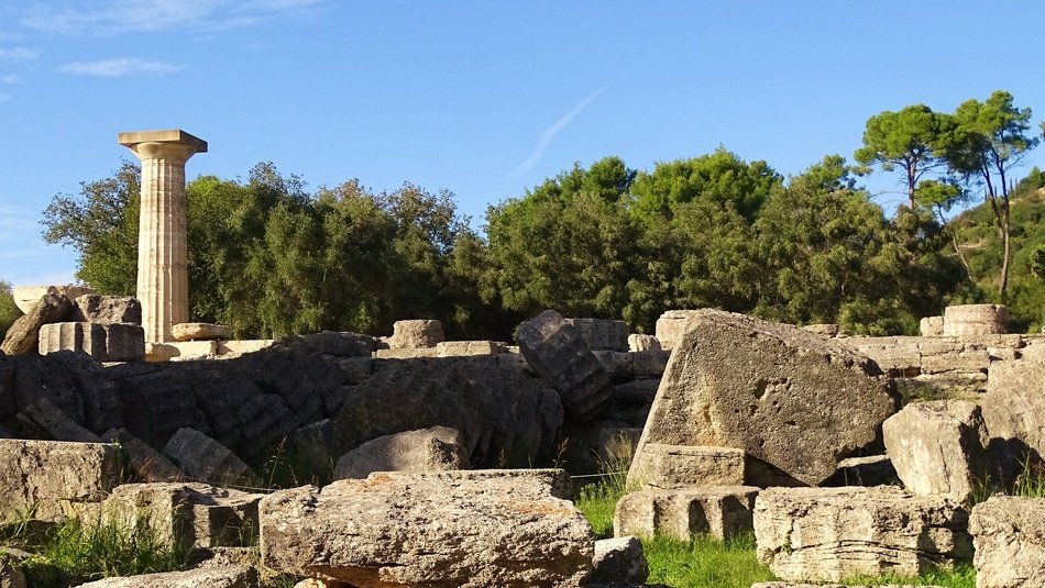 Olympia ruins in Greece