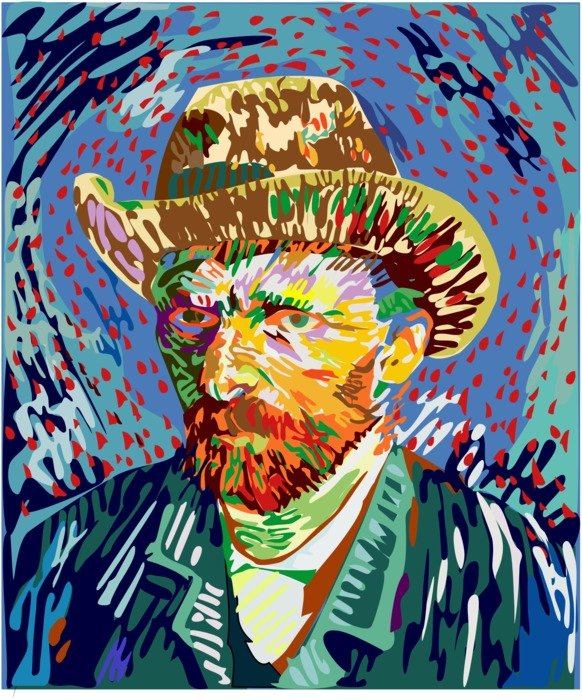 Self-Portrait in a Straw Hat by Vincent van Gogh