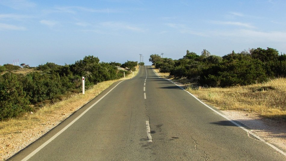 road in the national park cape greco