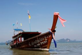colorful boat for traveling in thailand