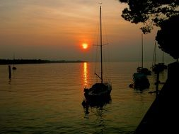Sunset Italy Garda Lake