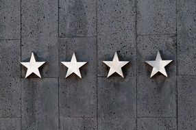 four stars on the wall