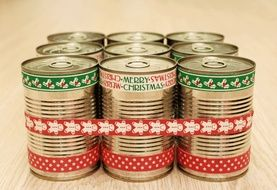 Merry Christmas Canned Gifts