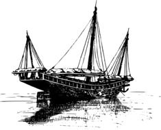 Chinese boat drawing
