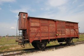 second world war concentration camp train in Poland