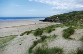 sandy coast of cornwall