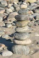 beach stones sculpture