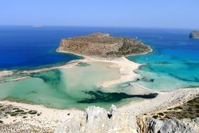 panoramic view of balos beach in greece
