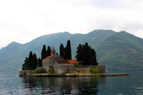 small island in picturesque Montenegro