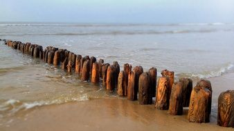 breakwater on North Sea, germany, sylt