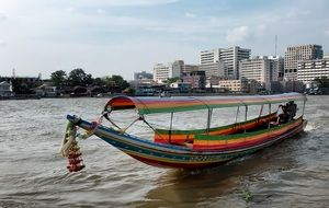 Picture of the boat on a river in Thailand