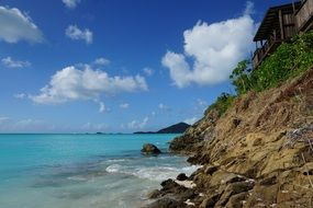 antigua is a picturesque island in the caribbean