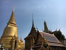 spiers of a big palace in thailand