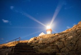 lighthouse of lindesnes on norway coast