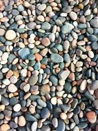 colorful fine pebbles background