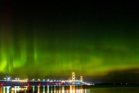 northern lights over michigan