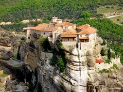 monastery in the mountains of greece