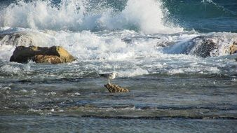 rocky surf in cyprus