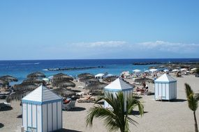 panorama of a tourist beach on the island of Tenerife