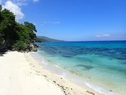white sand beach in Cebu