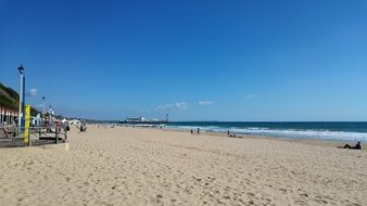 panoramic view of bournemouth beach