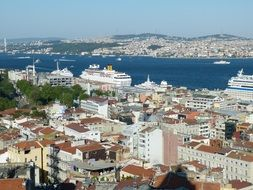 panoramic view of Istanbul at the daytime