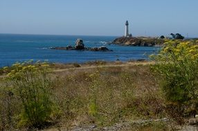 Lighthouse America Pacific Ocean