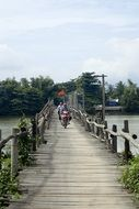 wooden bridge in vietnam