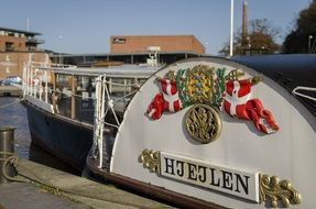 Hjejlen, vintage Steam Boat at pier