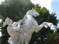 sculpture with a horse in Vienna