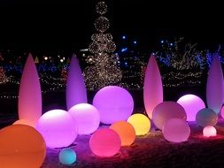 Picture of Colorful bright lamps
