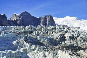 panorama of a glacier in patagonia