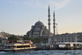 view from the water at istanbul