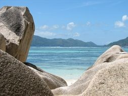 rocks near the ocean in seychelles