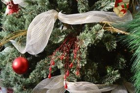 different types of decorations on the christmas tree