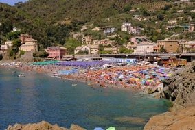 beach umbrellas on the Italian coast