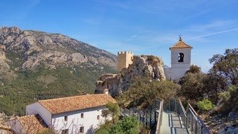 tower Guadalest Spain Alicante