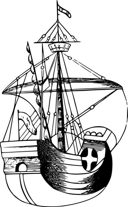 Boat Galley as a drawing