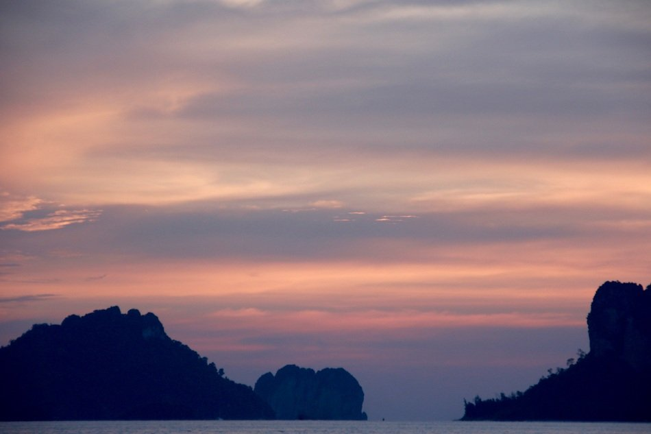 sunset in Thai islands